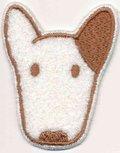 Applicatie hond wit/bruin (5 stuks)