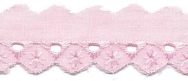 Broderie roze 25 mm