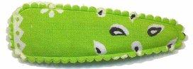Haarknip met haarkniphoesje groen paisley 5 cm
