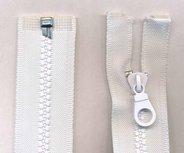 Deelbare bloktand rits wit 50 cm