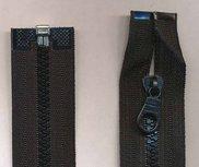 Deelbare bloktand rits zwart 50 cm