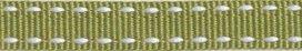 Legergroen-wit stippel grosgrain/ribsband 10 mm (ca. 25 m)