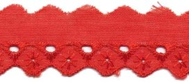 Broderie rood 25 mm (ca. 13,5 m)
