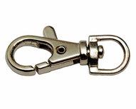 Musketonhaak / sleutelhanger zilverkleurig 9 mm (10 stuks)