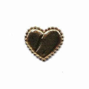 Applicatie glim hart goud 25 x 20 mm(ca. 25 stuks)