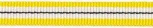 Geel-wit-zwart streep grosgrain/ribsband 10 mm (ca. 25 m)