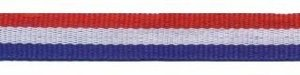 Rood-wit-blauw 'Nederlandse vlag' grosgrain/ribsband 10 mm (ca. 25 m)