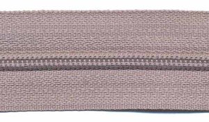Rits licht grijs 25 mm (maat 3)