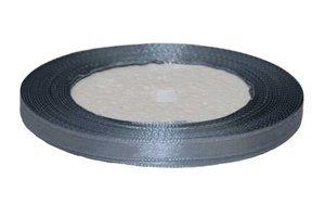 Grijs enkelzijdig satijnband 7 mm (ca. 22 m)