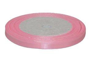 Licht roze enkelzijdig satijnband 7 mm (ca. 22 m)