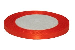 Oranje enkelzijdig satijnband 7 mm (ca. 22 m)