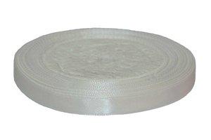 Wit enkelzijdig satijnband 10 mm (ca. 22 m)