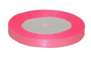 Roze enkelzijdig satijnband 10 mm (ca. 22 m)
