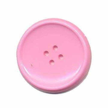 Knoop schotel roze 35 mm (2 stuks)