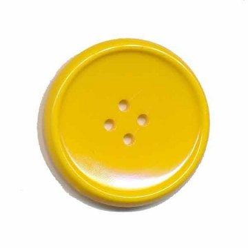 Knoop schotel geel 35 mm (2 stuks)
