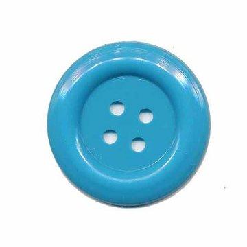 Knoop groot blauw 35 mm (2 stuks)