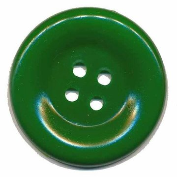 Grote knoop donker groen 50 mm (10 stuks)