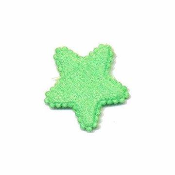 Applicatie ster groen klein 25 mm (ca. 25 stuks)