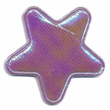 Applicatie glim ster paars groot 45 mm (ca. 25 stuks)