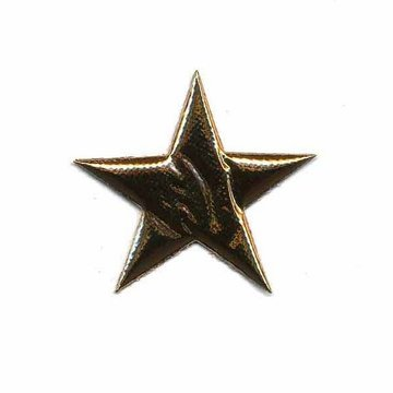Applicatie glim puntige ster goud 30 mm (ca. 25 stuks)