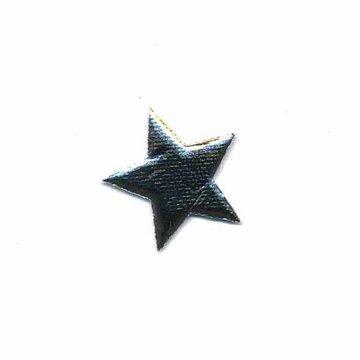 Applicatie glim puntige ster zilver 20 mm (ca. 25 stuks)