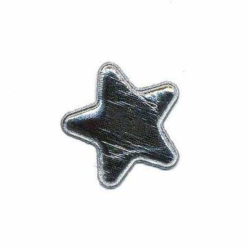 Applicatie glim ster zilver klein 25 mm (ca. 25 stuks)