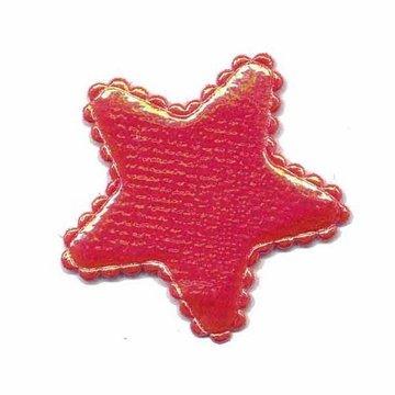 Applicatie glim ster rood middel 35 mm (ca. 25 stuks)