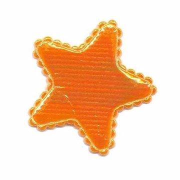 Applicatie glim ster oranje middel 35 mm (ca. 25 stuks)