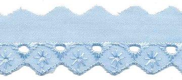 Broderie blauw 25 mm