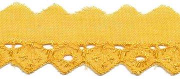 Broderie geel 25 mm