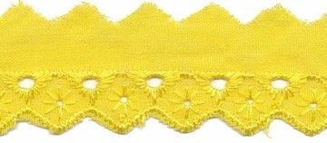 Broderie licht geel 25 mm