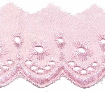 Broderie licht roze 50 mm