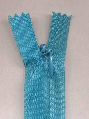 Blinde rits licht blauw 22.5 cm