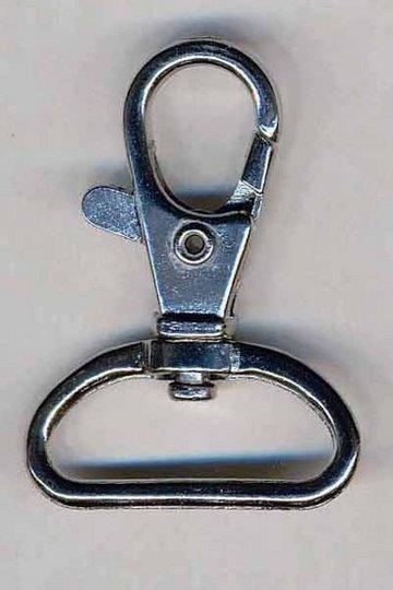 Musketonhaak / sleutelhanger zilverkleurig 30 mm