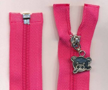 Deelbare rits roze 30 cm