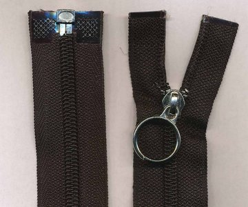 Deelbare rits zwart 35 cm