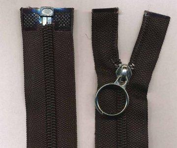 Deelbare rits zwart 40 cm