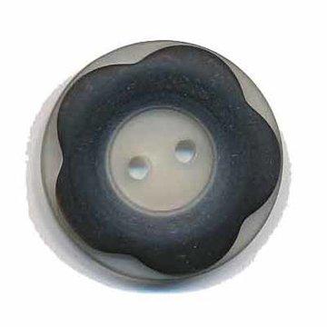 Bloemknoop met opstaande rand zwart 25 mm