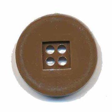 Knoop retro bruin 25 mm