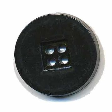 Knoop retro zwart 25 mm