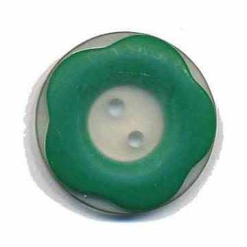 Bloemknoop met opstaande rand groen 25 mm