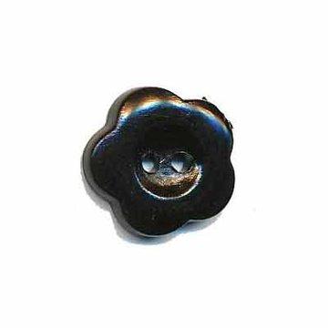 Bloemknoop zwart 15 mm
