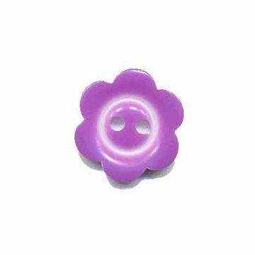 Bloemknoop met rand lila/paars 15 mm
