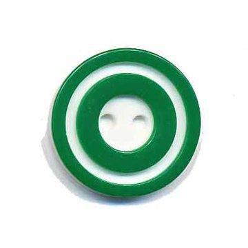 Knoop 'donut' middel donker groen 20 mm