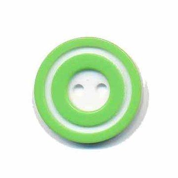 Knoop 'donut' middel appel groen 20 mm