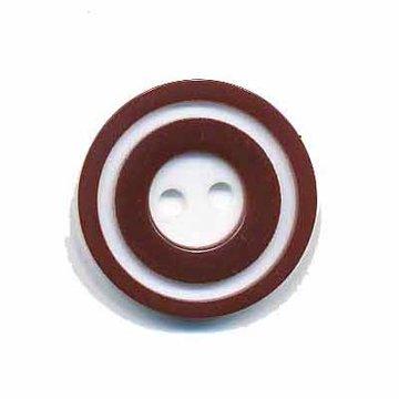 Knoop 'donut' middel bruin 20 mm