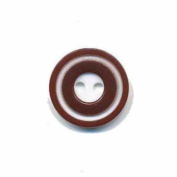Knoop 'donut' klein bruin 15 mm