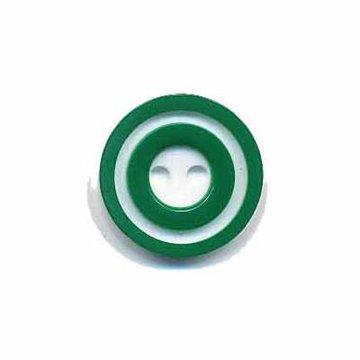 Knoop 'donut' klein donker groen 15 mm