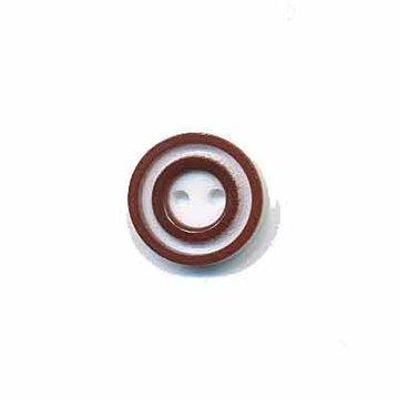 Knoop 'donut' mini bruin 10 mm