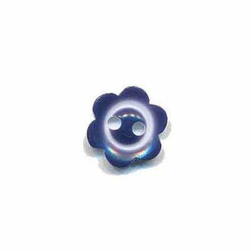 Bloemknoop met rand donker blauw 10 mm
